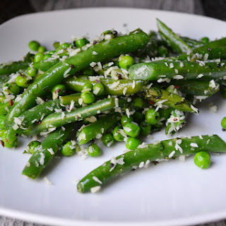 Coconut Green Beans and Peas