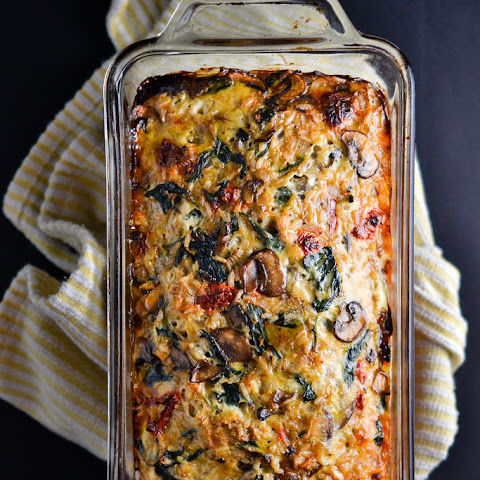 Mushroom, Spinach, and Brown Rice Loaf