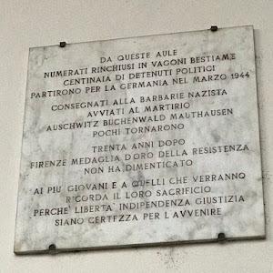 DA QUESTE AULE NUMERATI RINCHIUSI IN VAGONI BESTIAME CENTINAIA DI DETENUTI POLITICI PARTIRONO PER LA GERMANIA NEL MARZO 1944 CONSEGNATI ALLA BARBARIE NAZISTA AVVIATI AL MARTIRIO AUSCHWITZ BUCHENWALD ...