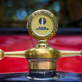 Temperature Always In View. by Ron Mullins - Transportation Automobiles ( dials, car show, ford, antique, guages )
