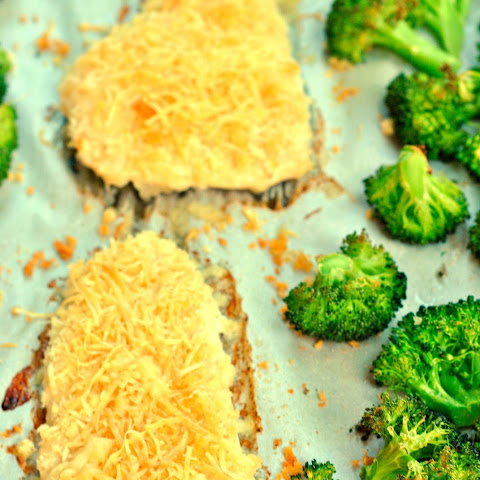 One Pan Parmesan Ranch Chicken with Broccoli