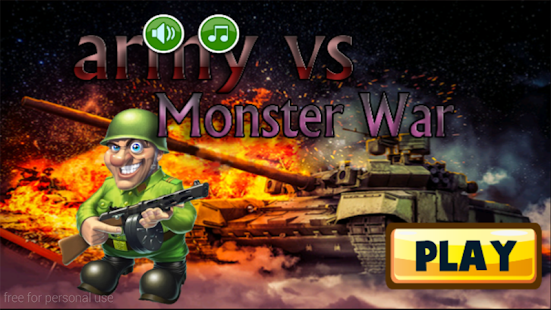 Army vs Monster War - screenshot
