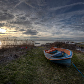 Go fishing tomorrow! by Kim  Schou - Transportation Boats ( vensholm, hdr, fishing, langelandsbæltet, boat, lolland )