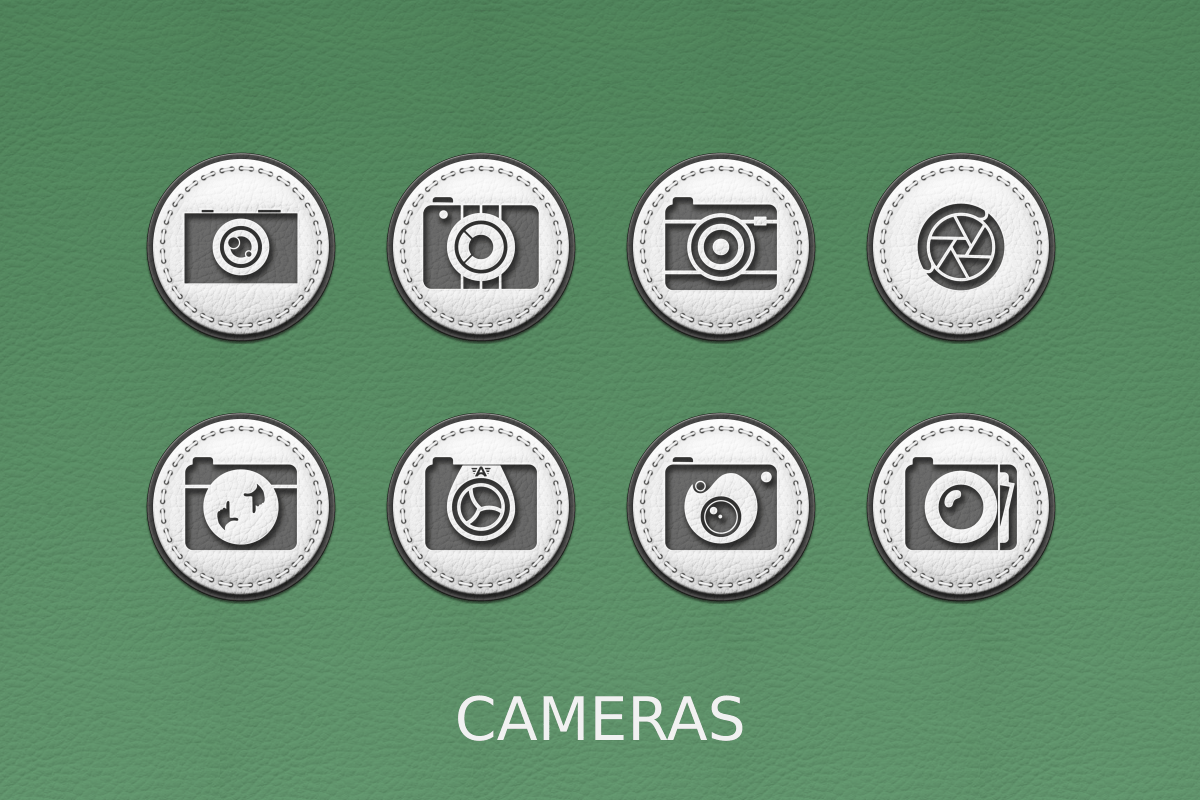 White Leather Icon Pack Screenshot 9