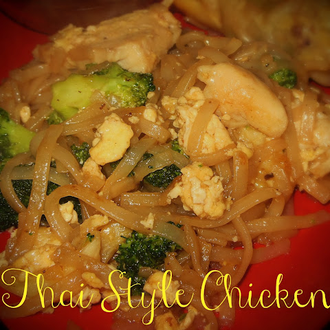 Thai Style Chicken and Noodles with Broccoli