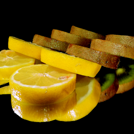 lemons with kiwi by LADOCKi Elvira - Food & Drink Fruits & Vegetables ( lemon )