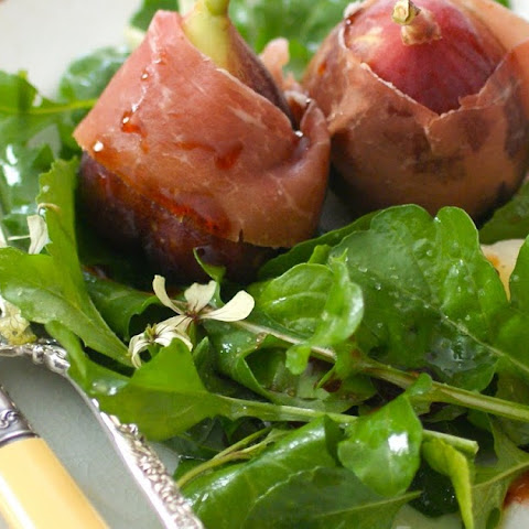 Figs and Proscuitto with Comté and Port Wine Glaze