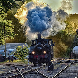 Steam Is Power ! by Marco Bertamé - Transportation Trains ( steam engine, fond-de-gras, locomotive, luxembourg, steam )