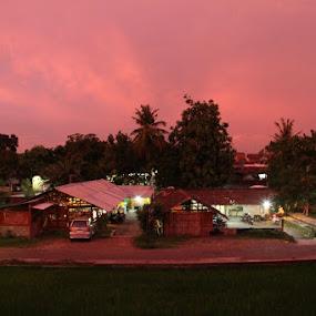 my backyard by Prasetya Blue yaris - Landscapes Sunsets & Sunrises
