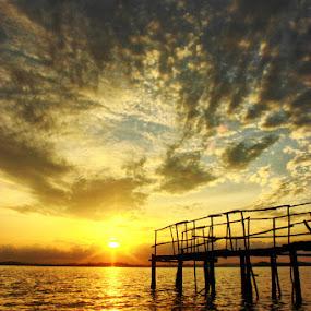 The Sea flows  by Kristian Hadinata - Landscapes Sunsets & Sunrises