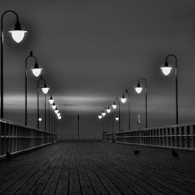 Gdynia Orłowo B & W by Mirek. Mirek. - Buildings & Architecture Bridges & Suspended Structures