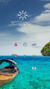 Beautiful blue ocean theme - screenshot