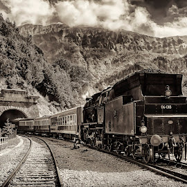 Historic train by Stane Gortnar - Transportation Trains (  )