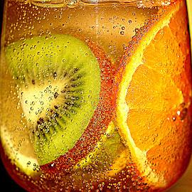 Fruits coctail by Renata Ivanovic - Food & Drink Fruits & Vegetables ( orange, kiwi, fruits, cocktail, soda, drinks, close up, lemon )