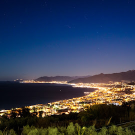 Night in Liguria by Fabio Latorre - City,  Street & Park  Night