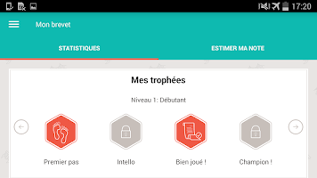 Screenshot of Brevet des collèges 2015