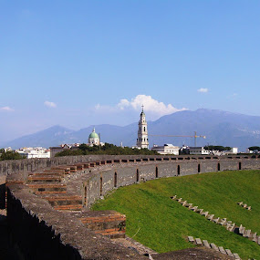 by Valerie Aebischer - Novices Only Landscapes ( pompeii colosseum, pompeii, italy )