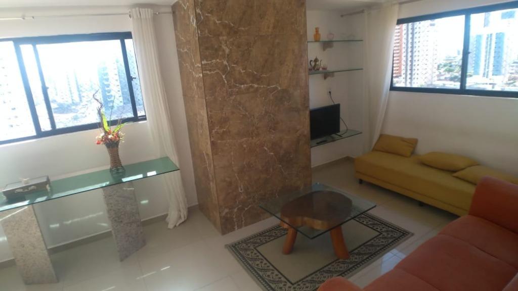 Apartamento com 3 dormitórios para alugar, 90 m² por R$ 1.700/mês - Manaíra - João Pessoa/PB