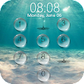 Lock screen droplets water