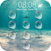 Lock screen droplets water APK for Bluestacks