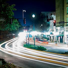Hot Springs by Patricia Konyha - City,  Street & Park  Street Scenes