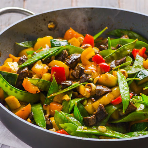 Healthy Beef and Cashew Stir Fry