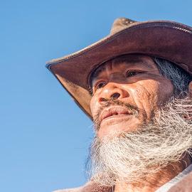 Weiry by Jenkinson Balinggan - People Portraits of Men ( cowboy, old man, portrait, man )