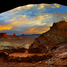 Kiva by Craig Bill - Landscapes Travel ( canyonlands, sunset, ruins, cave, kiva )