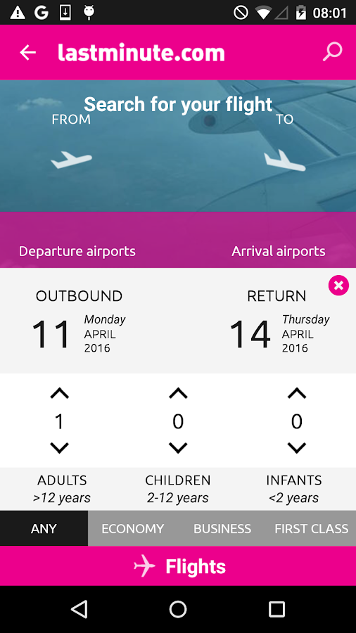 lastminute.com hotel & flights Screenshot 2