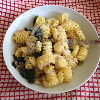 Pasta with Escarole, Sausage and White Beans