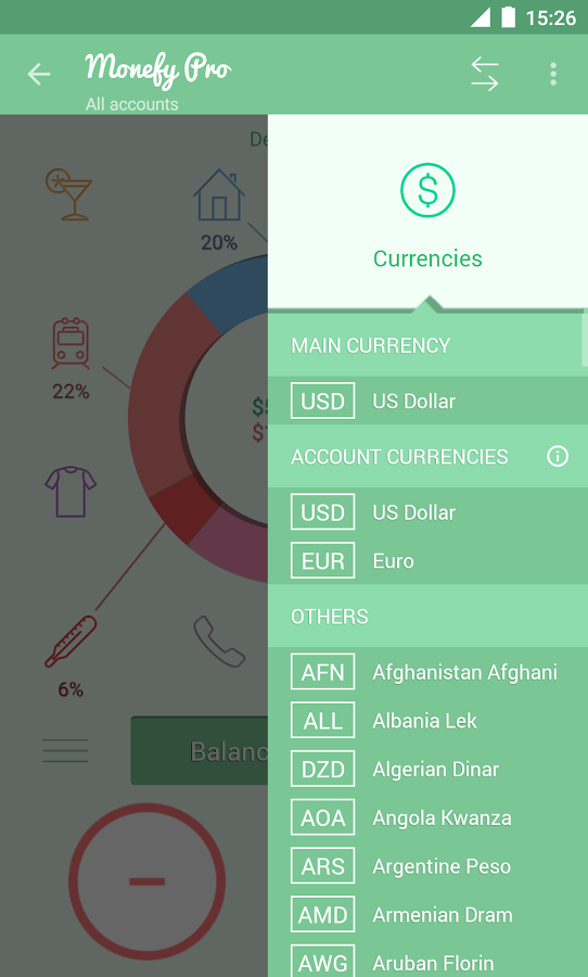 Monefy Pro - Money Manager Screenshot 6