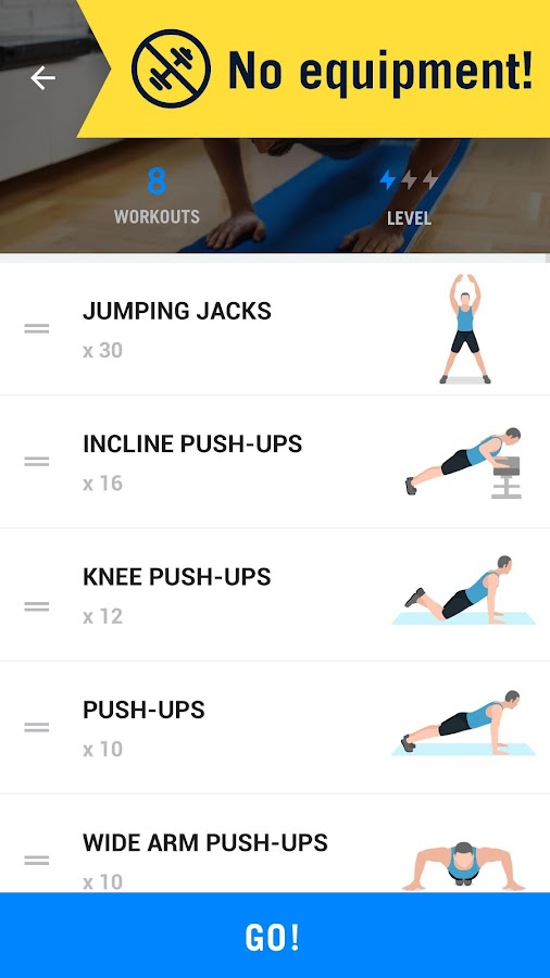 Home Workout No Equipment Screenshot