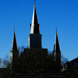 Touch Of Light by David Walters - Buildings & Architecture Places of Worship ( new orleans, church, colors, sony hx400v, city )