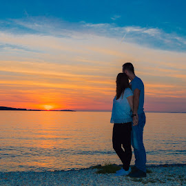 by Tomislav Subota - People Couples ( sunset, sea shore,  )
