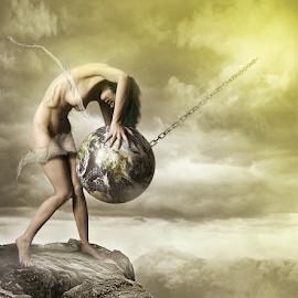 Mine! by Ronny Overhate - Digital Art People ( editing, illustration, photo manipulation, digital art, earth, women )