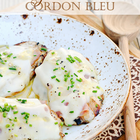 Grilled Chicken Cordon Bleu with Dijon Vinaigrette