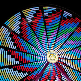 Ferris Wheel by Amanda Lehning - Abstract Patterns ( abstract, lights, ride, color, nighttime,  )
