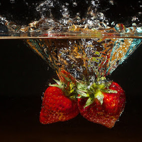 Strawberries by Javier Luces - Food & Drink Fruits & Vegetables ( fruit, food, javluc, high speed, strawberry,  )