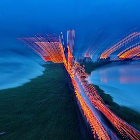Mysterious Island by ডাঃ মুহাম্মদ হাসান - Abstract Light Painting ( abstract, light trail, mysterious, dhaka, island )