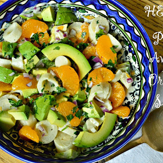 Hearts of Palm, Avocado and Orange Salad
