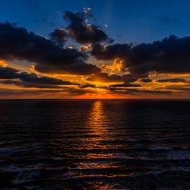 Mediterranean Sunset by Robert Namer - Landscapes Sunsets & Sunrises ( blue sky, blue, sunset, seascapes, summer, sea, landscape photography, seascape, landscapes, landscape, sun,  )