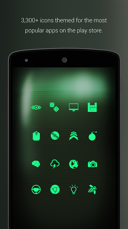 PipTec Green Icons & Live Wall Screenshot 3