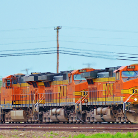BNSF 4458, 4084, 7852  4951 by Jim Suter - Transportation Trains