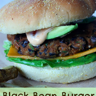 Black Bean Burger with Chipotle Mayo Sauce