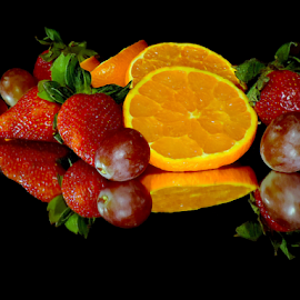 orange,grape and strawberry by LADOCKi Elvira - Food & Drink Fruits & Vegetables ( fruits.orange )