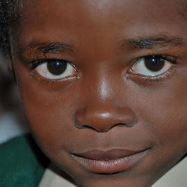 At the school by Tomasz Budziak - Babies & Children Child Portraits ( child, child portraits, africa, boy )