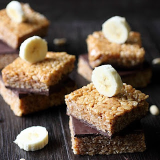 Peanut Butter Banana Rice Krispies Treats