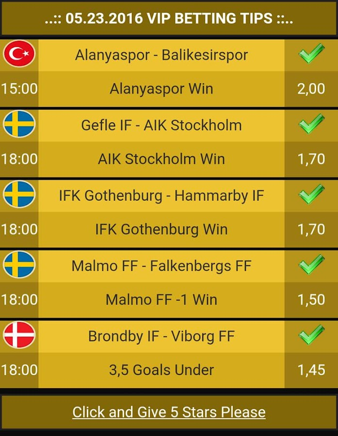 Betting Tips VIP Screenshot 2