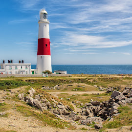 Portland Bill. Portland Island, England. by Graeme Hunter - Buildings & Architecture Public & Historical