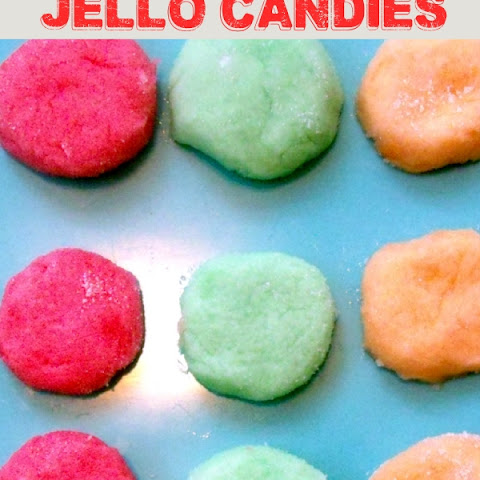 Homemade JELLO Candies